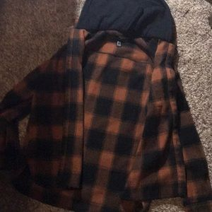 Brown Hooded Flannel